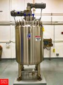 2019 Feldmeier 250 Gallon Vacuum-Jacketed Dome-Top 316L S/S Tank : SN 19EO438, Mounted on Load Cells