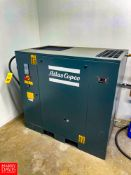 2019 Atlas Copco 30 HP Air Compressor Model G18FF : SN ITJ234398, with GE 60 Amp Safety Switch, 6