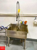 2-Compartment S/S Sink with Faucet and Hose