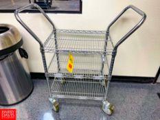"Portable 2-Shelf S/S Carts, (2) 36"" Length x 24"" Depth x 32"" Height and (1) 18"" Length x 24"" Depth x"