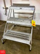 """Uline 30"""" Portable Stairs Model M02/19, 500 Pound Capacity. Rigging Fee: $75"""
