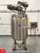 2019 Feldmeier 120 Gallon Vacuum-Jacketed Dome-Top 316L S/S Tank : SN 19EO437, Mounted on Load Cells