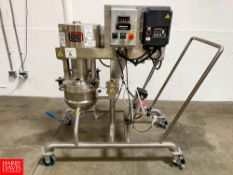 Lee 5 Gallon Vacuum-Jacketed S/S Kettle with Vertical Scrape Agitation Model 15LD9MT : SN C5196A2,
