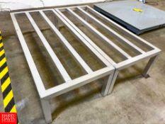 "Uline Aluminum Racks Model H-7496, 48"" Length x 20"" Width x 12"" Height. Rigging Fee: $75"