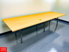 """Wooden Conference Table, 124"""" Length x 42"""" Depth x 29"""" Height. Rigging Fee: $75"""