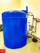 Chemtainer 1,000 Gallon Poly Tank, 5' Diameter x 7' Height.Rigging Fee: $150
