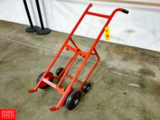 Meco 1,000 LB Capacity Drum Truck and Drainer Model 45P. Rigging Fee: $20