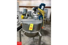 Groen Jacketed S/S Kettle Model PT40, S/N 12117, With Neptune Mixer Rigging Fee: $100