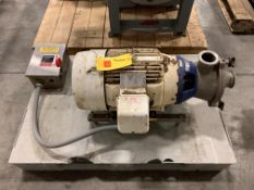 """Centrifugal Pump Model: MR-20, With 15 HP Motor, 3"""" X 3"""" Head, Clamp Type, And Cutler Hammer S/S"""