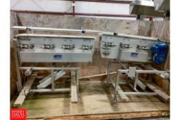 """48"""" Long X 6.5"""" Wide S/S Frame Product Conveyors, With Drives Rigging Fee: $100"""