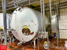 2,500 Gallon S/S Horizontal Tank, With Air Valves And Sensors Rigging Fee: $ 1550