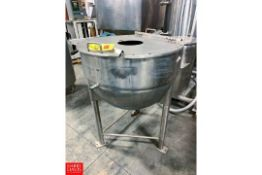 Lee Jacketed Kettle Model: 60D, S/N: B5272A1 Rigging Fee: $100