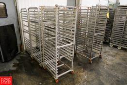 S/S & Aluminum Sheet Pan Racks (3) S/S, (5) Aluminum. Rigging Fee: $ 170.00