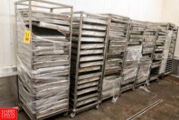 S/S Sheet Pan Racks. Rigging Fee: $ 170.00