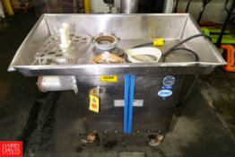 "Biro Meat Grinder Model: 5 S/N 27406, 5 HP, 48"" x 24"" Left Hand S/S Table Top. Rigging Fee: $ 10.00"