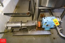 """SPX Positive Displacement Pump Model: 060U2 S/N: 1000003454044, 3"""" Inlet/Outlet, Mounted on S/S"""
