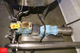 "SPX Positive Displacement Pump Model: 060U1 S/N: 060U1, 3"" Inlet/Outlet, Mounted on S/S Base."