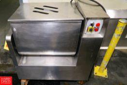 2010 S/S Tilting Paddle Mixer Model: FM100B S/N: FK10026, 100 liter Production Capacity. 1.5 kw,