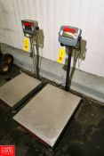 Ohaus Digital S/S Platform Scale Model:D300BX, S/N:B726296174, 300 kg/ 600 lb. Capacity, 0.1 kg/ 0.2