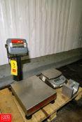 (1) Ohaus Digital S/S Bench Scales Model: D30BR, 30 kg/ 60 lb. Capacity, 0.01 kg/ 0.02 lb.