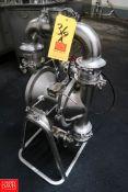 Graco S/S Diaphragm Pump 04E17E Series, 150 GPM/568 Liters/min, 120 PSI/ 8.4 bar Max Fluid Pressure.