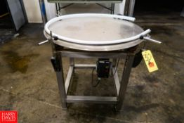 """S/S 36"""" Accumulation Table. Rigging Fee: $ 25.00"""