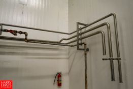 S/S Piping in the Cooker Room Approx. 150'L. Rigging Fee: $ 25.00