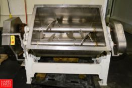 """Smith S/S Tilting Double-Paddle Mixer Model: 4A, 45"""" x 31"""" x 24"""" Mixing Bowl, 7.5 HP. Rigging Fee: $"""