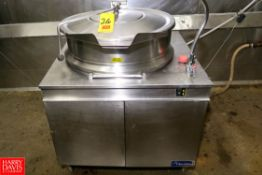 Cleveland 40 Gallon S/S Jacketed Tilting Kettle. Rigging Fee: $ 40.00