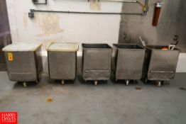 Portable S/S Square Totes Approx. 80 Gallon/300 Liter Capacity. Rigging Fee: $ 125.00
