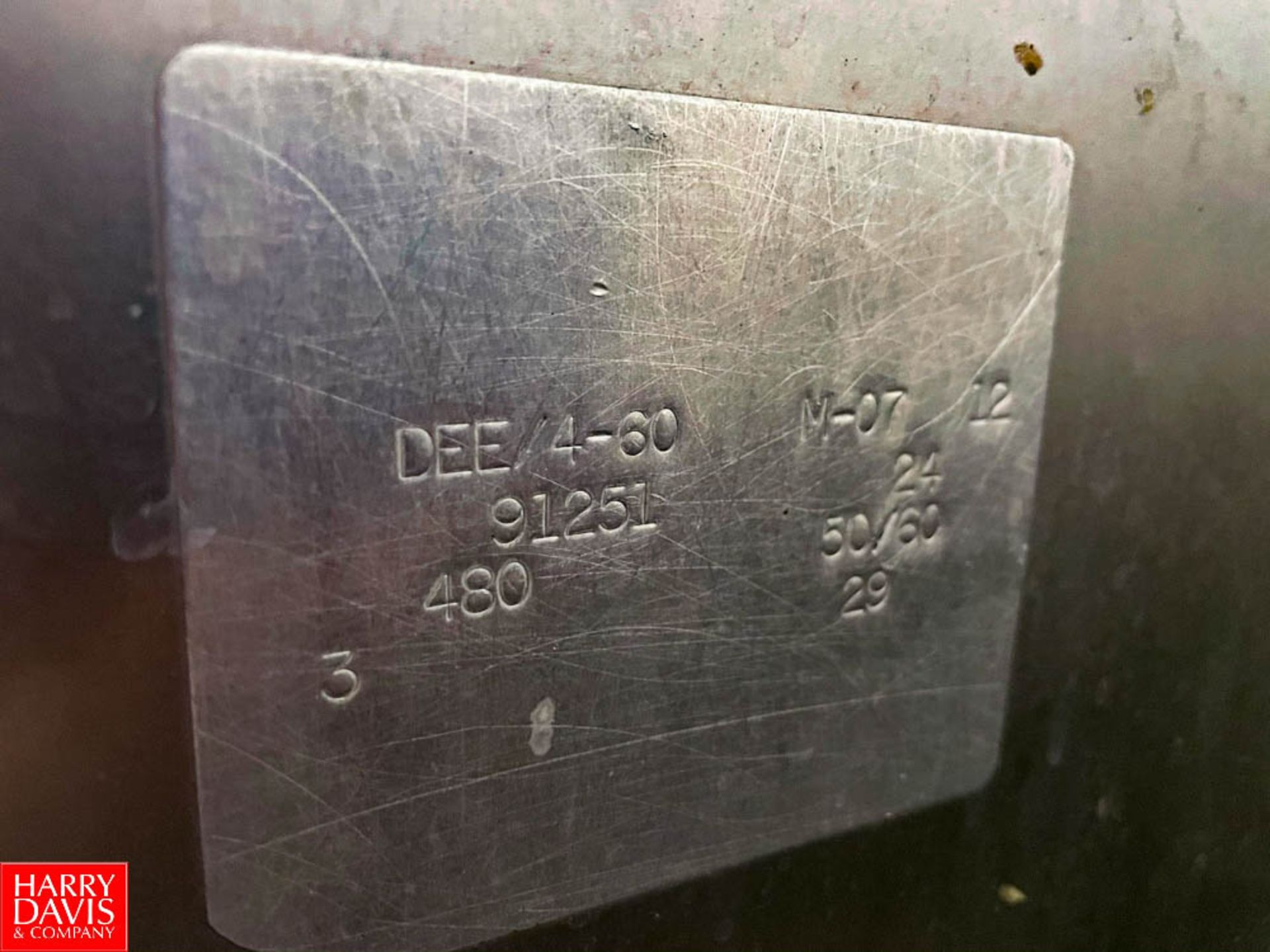 2012 Groen 60 Gallon Jacketed S/S Kettle Model: DTE/4-60 SN: 91251. Rigging Fee: $750 - Image 3 of 3