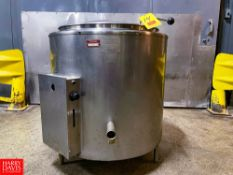 Groen 40 Gallon Jacketed S/S Kettle. Rigging Fee: $750