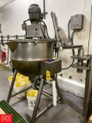 Groen 100 Gallon S/S Jacketed Tilting Kettle Model: MW/DTA-100-100 with Vertical Agitation. Rigging