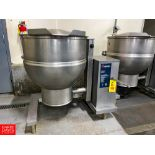 2012 Groen 60 Gallon Jacketed S/S Kettle Model: DTE/4-60 SN: 91250. Rigging Fee: $750