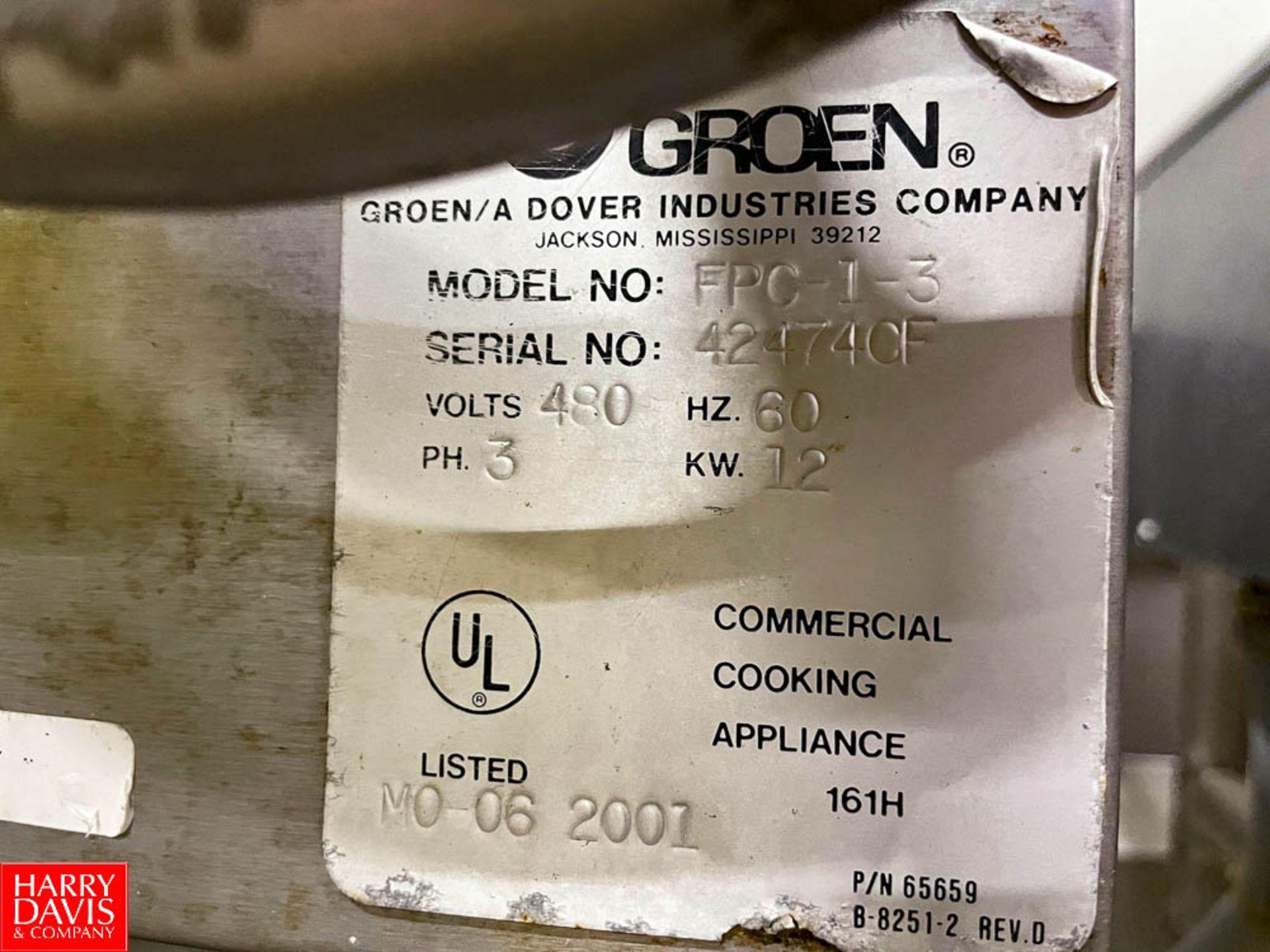 Groen 30 Gallon S/S Electric Tilt Skillet. Rigging Fee: $325 - Image 3 of 3