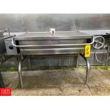 Groen 40 Gallon S/S Electric Tilt Skillet. Rigging Fee: $325
