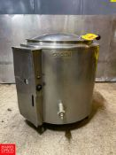 Groen 40 Gallon Jacketed S/S Kettle. Rigging Fee: $325