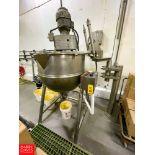 Groen 100 Gallon S/S Jacketed Tilting Kettle Model MW/FT-TA-100-100. NO AGITATION