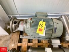 """Fristam Liquid Ring Centrifugal Pump, with 15 HP Motor, 2"""" x 2"""" Clamp Type Rigging Fee: $ 50"""