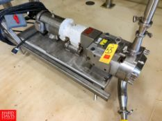 Ampco Positive Displacement Pump, with S/S Clad 3/5 HP Motor, Mounted On S/S Base Rigging Fee: $