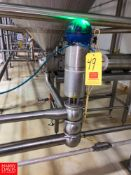 """Bardiani 3"""" 3-Way, 316L S/S Mix Proof Air Valves, with Control Top, Clamp Type Rigging Fee: $ 40"""