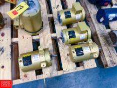 NEW Baldor 2 HP and 1 HP 840 RPM and 1,725 RPM Motors Rigging Fee: $ 80
