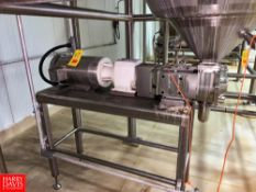2015 Ampco Positive Displacement Pump with S/S Clad 10 HP Motor, Mounted On S/S Base Rigging