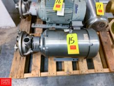 """Ampco Liquid Ring Centrifugal Pump, with Baldor S/S Clad 15 HP 1,765 RPM Motor, 2"""" x 2"""" Clamp Type"""