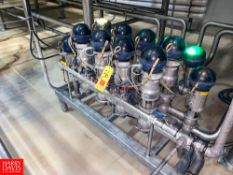 """Bardiani 2"""" 316L S/S Mix Proof Air Valves, with Control Tops, In Manifold Rigging Fee: $ 200"""
