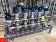 """Bardiani 3"""" 316L S/S Mix Proof Air Valves, with Control Tops, In Manifold Rigging Fee: $ 200"""