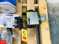 """NEW Tru Flow Valve Positioner, with 2"""" S/S Ball Valve, Clamp Type Rigging Fee: $ 30"""