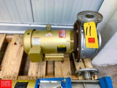 NEW Goulds Centrifugal Pump with 5 HP 1,750 RPM Motor Rigging Fee: $ 50