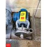 """Tri Clover Centrifugal Pump, with 5 HP 3,505 RPM Motor and 2"""" X 1.5"""" S/S Head, Clamp Type"""