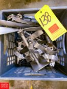 S/S Piping Hangers and Brackets, Located in:Rutland Rigging Fee: $ 100
